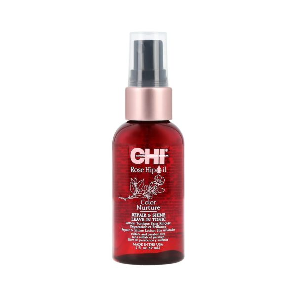 Farouk Systems Chi Rose Hip Oil Repair Shine Leave-In Tonic 59 ml